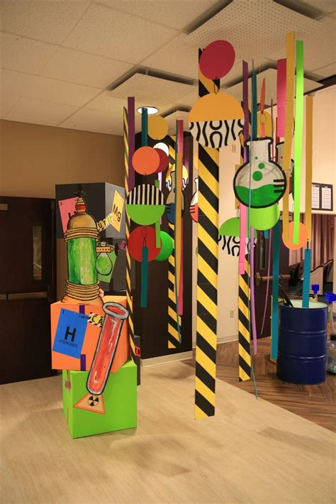 Science Decorations - 35 best time lab hallway decorations images on
