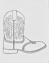 Cowboy Boot Coloring Pages Cowgirl Boots Western Printable Sketch Dancing March Hats Sheets Drawing Sketches Clipart Paintingvalley Collection Fr Google sketch template