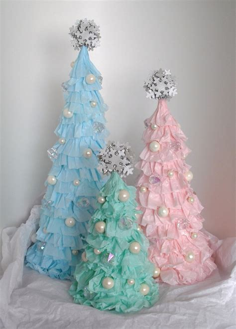 shabby chic ruffled christmas tree tickled pink at