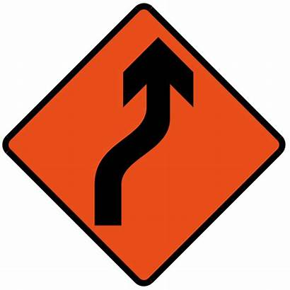 Sign Svg Bend Road Signs Temporary Right