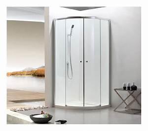 paroi de douche avec porte coulissante arrondie verre With porte de douche coulissante avec panneaux muraux renovation salle de bain