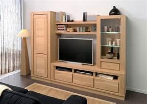 Meuble Tv Living : table tv en bois banc tv hifi maisonjoffrois ~ Teatrodelosmanantiales.com Idées de Décoration