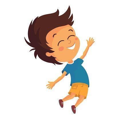 vector jumping boy vector images  illustration