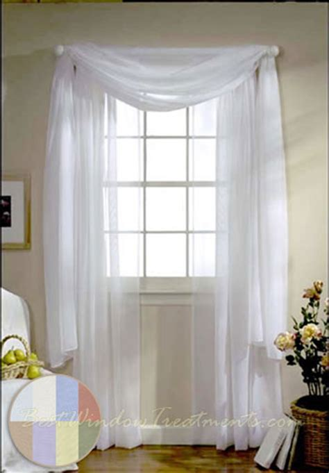 Turtle Bay Voile Curtain Panel available in White, Ivory