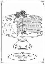Cake Coloring Cakes Tulamama Southern Dessert Sheets Gourmandises Ve Desserts Fairy Pie sketch template