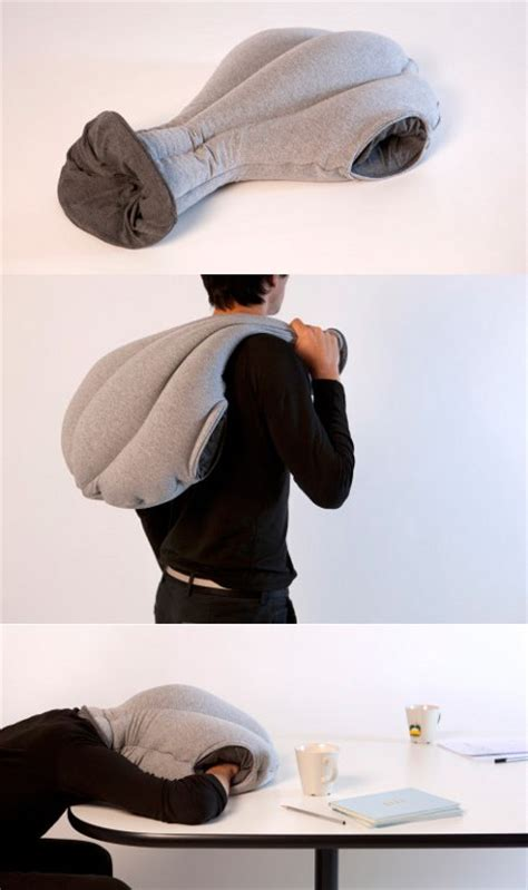 ostrich pillow thingy  napping  work geekologie