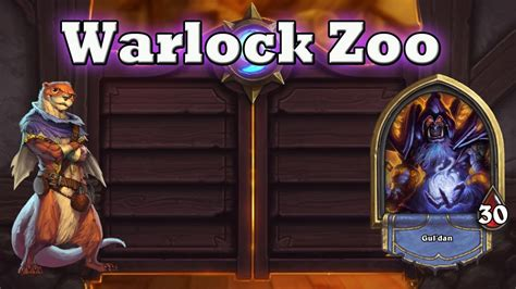 hearthstone deck guide warlock zoo youtube