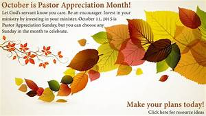 Pastor Appreciation Month Ideas