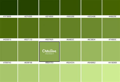 shades of green color is there a science to picking colors creative market