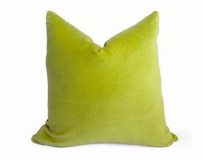 Velvet Pillow Lime Cotton Pillows Lumbar Clover