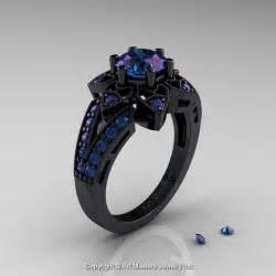 black wedding sets deco 14k black gold 1 0 ct alexandrite wedding ring engagement ring r286 14kbgal