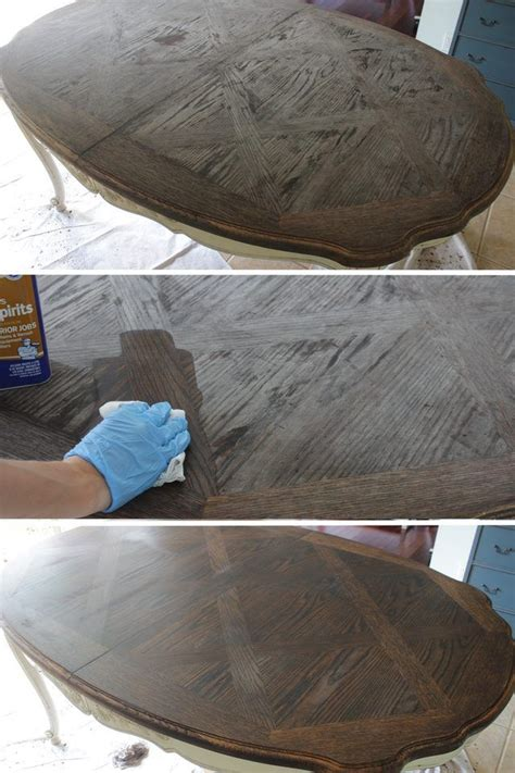 how to refinish a table top without stripping the 25 best refurbished table ideas on pinterest