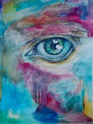 Eyes Abstract Art Paintings