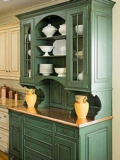 what to look for in kitchen cabinets before after an outdated hutch goes cottage chic 2158