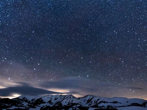 ns snow night sky star space nature wallpaper