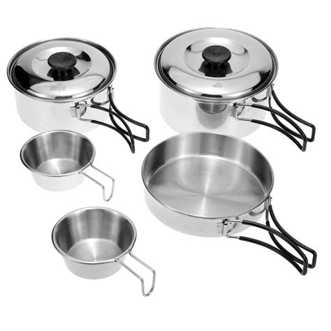 pot steel stainless pan pots cooking camping backpacking cookware hiking ultralight bowl pans picnic features
