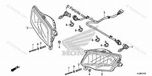 Honda Side By Side 2020 Oem Parts Diagram For Headlight
