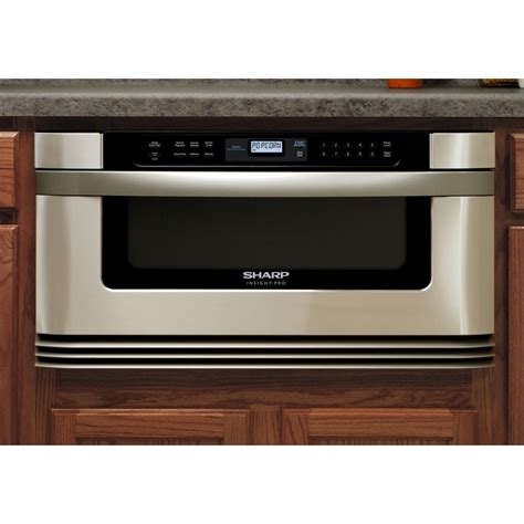 drawer microwave ovens sharp kb6001ns 1 0 cu ft built in microwave drawer with