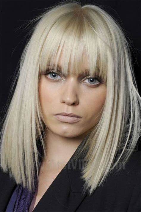 modern medium length haircuts  bangs layers