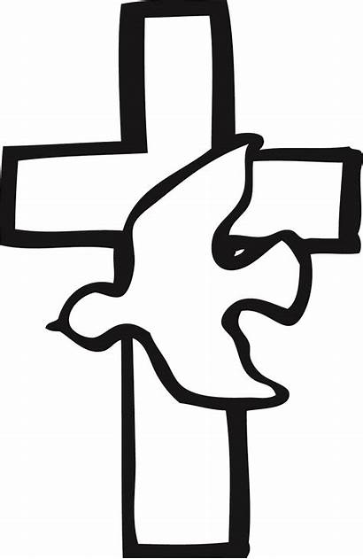 Clipart Baptism Cross Holy Spirit Library Clip
