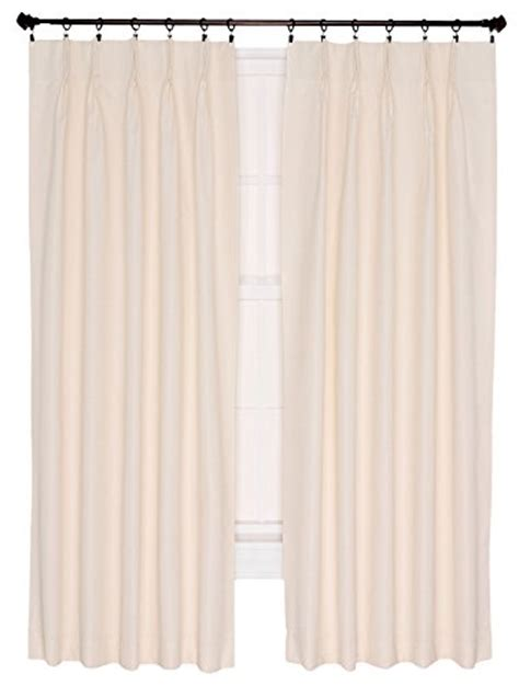 Pleated Thermal Drapes - ellis curtain crosby thermal insulated 48 by 63 inch pinch