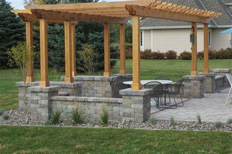 pergola covered dining area contemporary patio