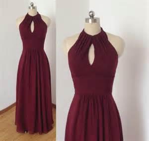 bridesmaid dresses in burgundy halter burgundy chiffon bridesmaid dress 2435260 weddbook
