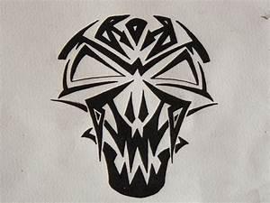 Tribal vampire skull by PixelFetish on DeviantArt