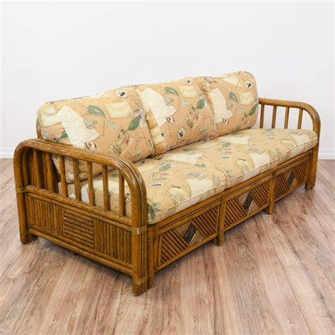 Wicker Sofa Sleeper by Tropical Rattan Sleeper Sofa Bed Loveseat Vintage
