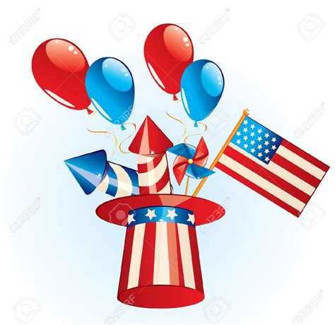 July 4th Clip Happy Fourth Of July Rocket Day Word Clipar 100 Happy