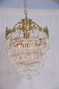 Chandelier Amusing Brass And Crystal Chandelier American