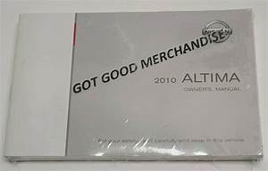 2010 Nissan Altima Owners Manual User Guide V6 3 5l I4 2