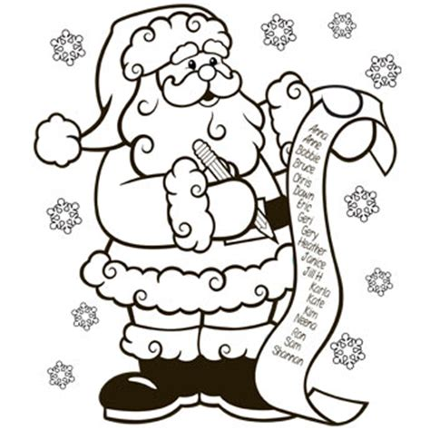 nice list coloring page  christmas recipes