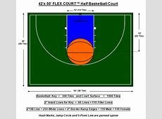 half court basketball dimensions for a backyard 28