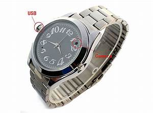USB Spy Camera Watch Stainless Steel Strap 4GB - E00975 ...