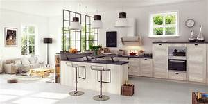Cuisine equipee ouverte cuisine en image for Cuisine avec salle a manger intégrée pour petite cuisine Équipée
