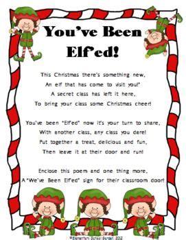 you ve been elf ed a fun christmas activity elementary