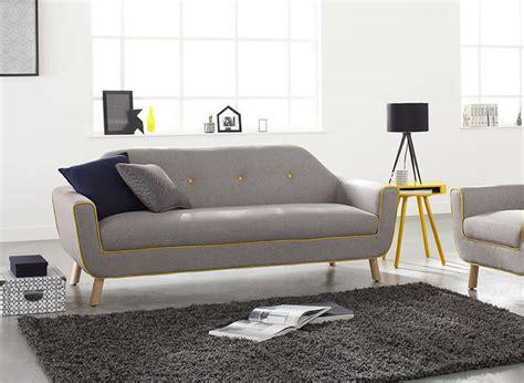 chambre gris foncé canapé 3 places en tissu gris et jaune copenhague