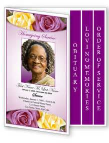 Free Graduated Funeral Program Template