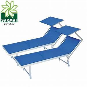 2 Lettini Sdraio Alluminio Piscina Mare Spiaggia Giardino