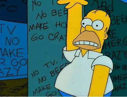 Homer Beer Crazy Tv Something Moments Simpsons