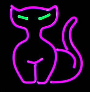 Neon Tabletop Cat Sculpture