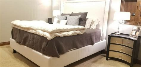 wooden king size bed frame  nail trimmed