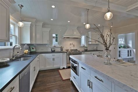 kitchen cabinets in gray island counter top caesarstone grey 5000 6131