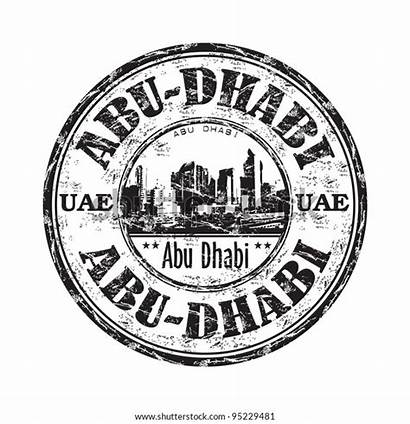 Grunge Stamp Rubber Abu Dhabi Emirates Arab