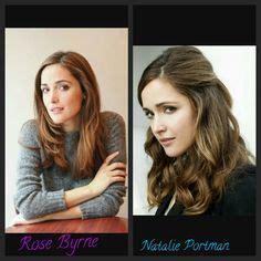 rose byrne looks like natalie portman natalie portman totally looks like audrey hepburn audrey