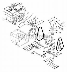 Ariens Parts On The Engine And Belt Drive Diagram For 924082  St 824
