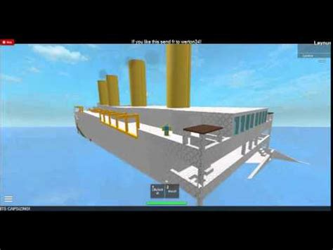 britannic sinking roblox youtube