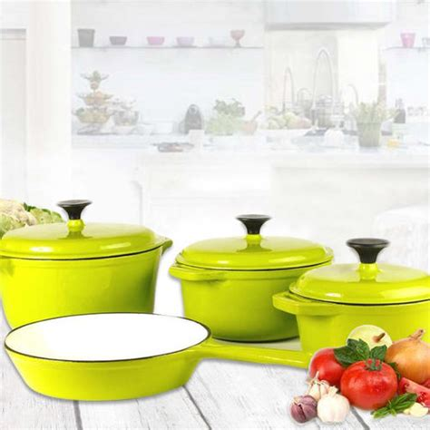 cooking pot 7 days to die cookware sets rystel seven cast iron enamel cookware pot set was sold for r1 900 00 on