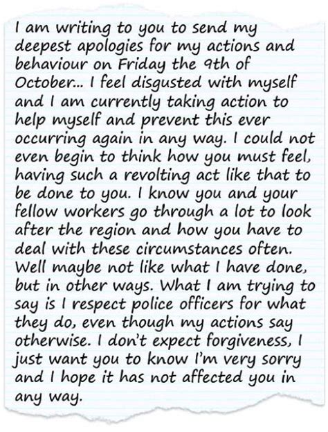 man wrote apology letter  policeman  spat  daily